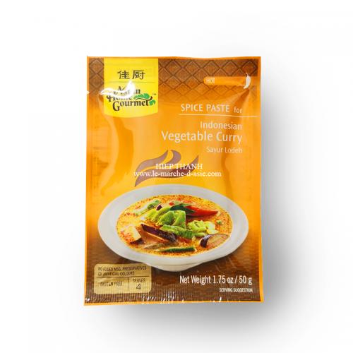 Pâte d'épices pour curry indonésien avec des légumes - Fort - Asian Home Gourmet