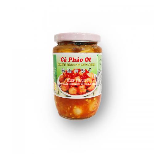 Pickles d'aubergines au piment cà pháo ớt 390g - Vinawang