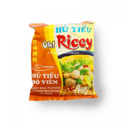 Nouilles de riz instantanées aux boulettes de boeuf hủ tiếu bò viên - Oh! Ricey