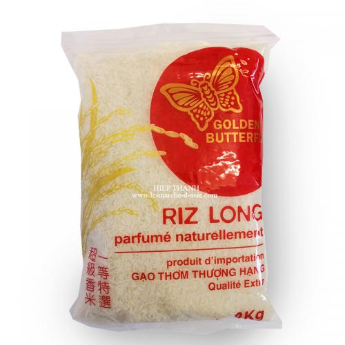 Riz long parfumé naturellement 2kg - Golden Butterfly