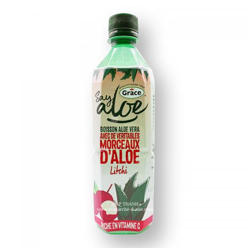 Boisson à l'aloe vera goût litchi- Say Aloe Grace