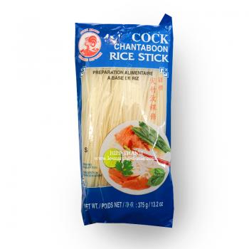 Vermicelles de riz, S (1mm), 375g, Cock Brand, sachet de face