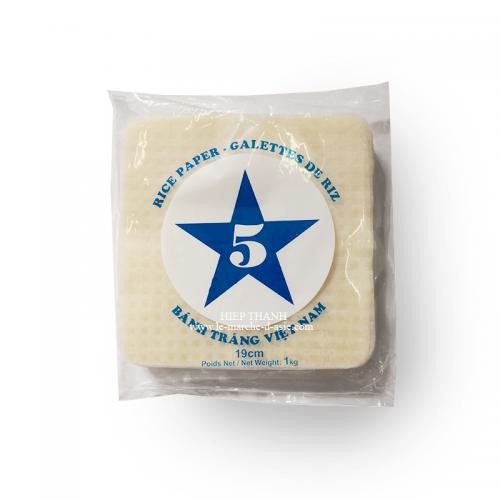 Galettes de riz carrés Bánh tráng 19cm - 5 étoiles