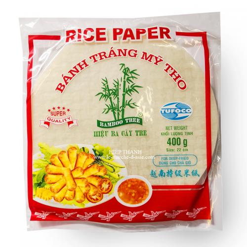 Galettes de riz rondes pour Nems Bánh tráng 22cm - Bamboo Tree