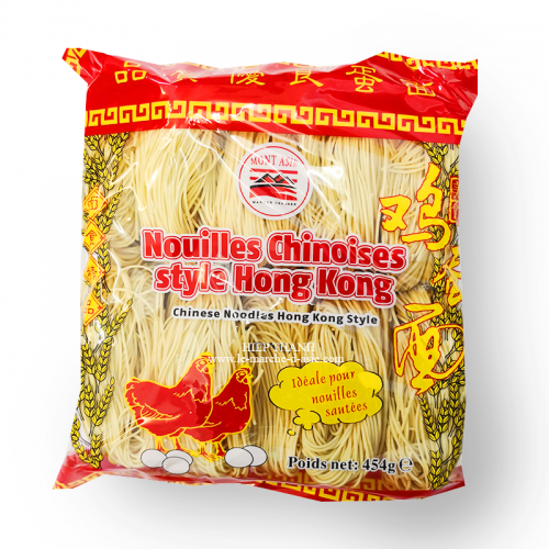Nouilles Chinoises Fines style Hong Kong 454g - Mont Asie