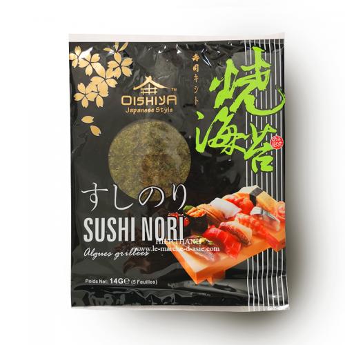 Algues grillées Sushi Nori (5 feuilles) - Oishiya
