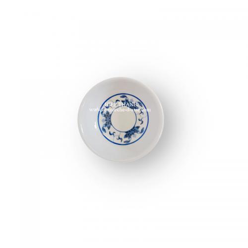Petite saucière chinoise en mélamine 7cm - motif bleu